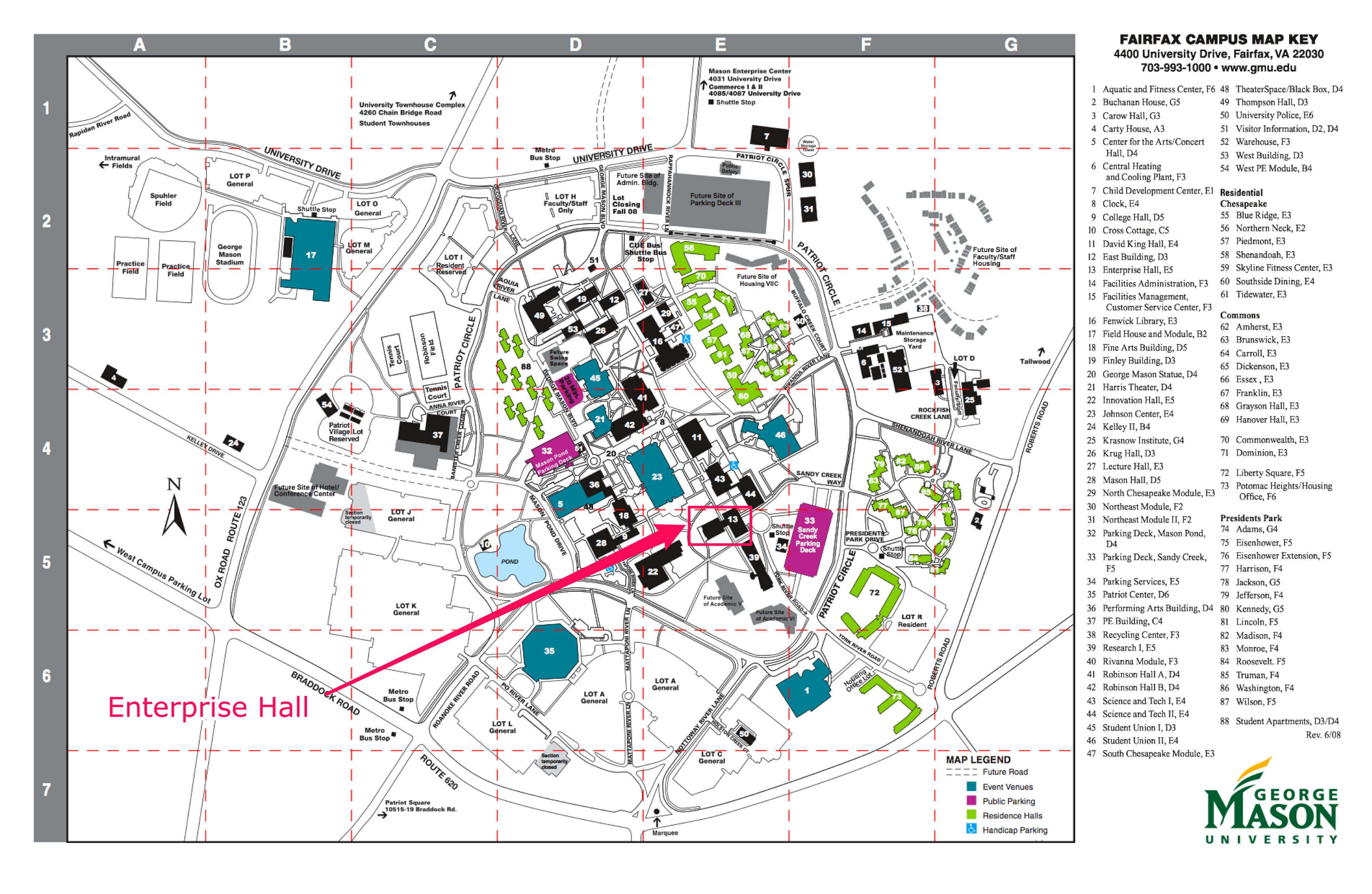 Best George Mason University Campus Map Images - Map Informations ...