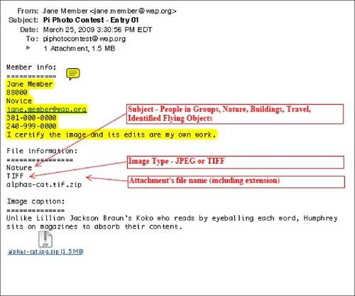 sample email of jane members