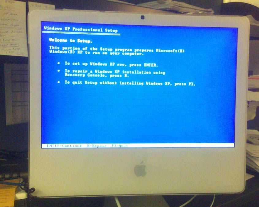 installing windows xp on mac without bootcamp