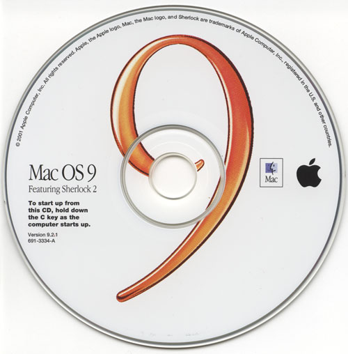 MacOS 9.2.2 Boot CD (eMac G4 100%  Compatible)