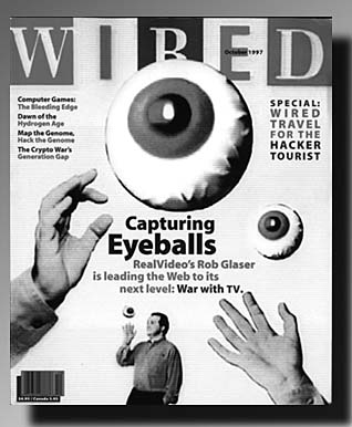 [Cover of WIRED magazine] WIRED: A cover story on WEBTV (a recent Microsoft